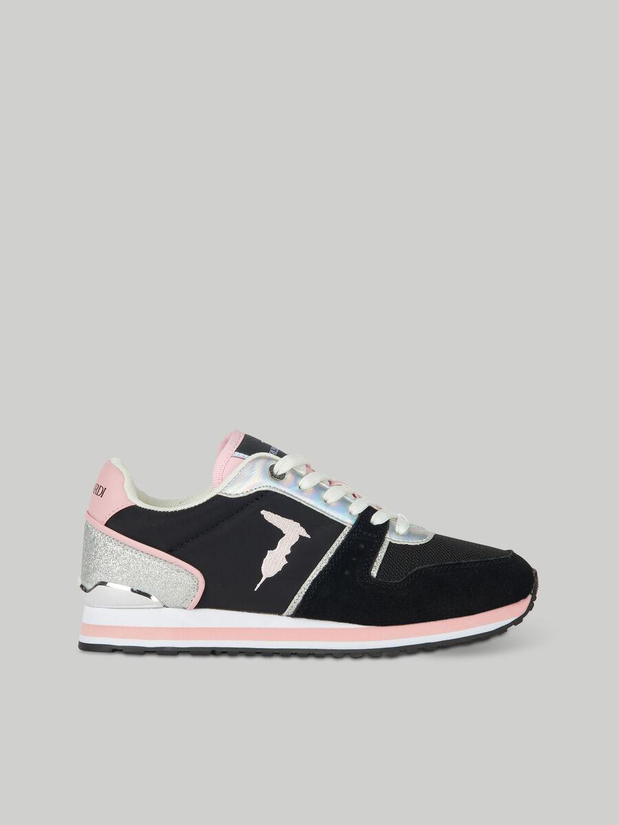 Sneaker Berberis aus Nylon und Veloursleder