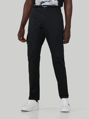 Reactive gabardine cargo trousers