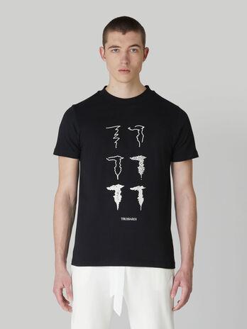 T-shirt coupe classique en jersey a imprime Levrieri