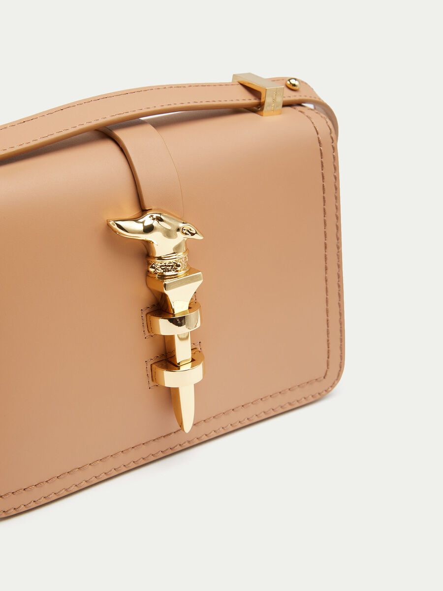 Mini Nail shoulder bag with levriero detail