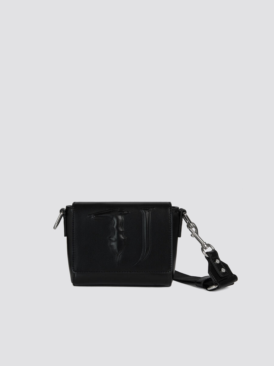 Small T-Easy Cacciatora bag solid colour faux leather