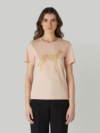 T-shirt regular fit in jersey di cotone stampato