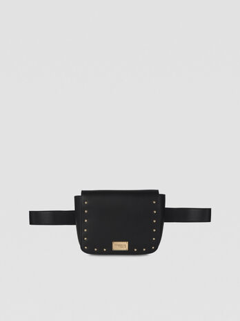 Dafne belt bag in studded faux leather