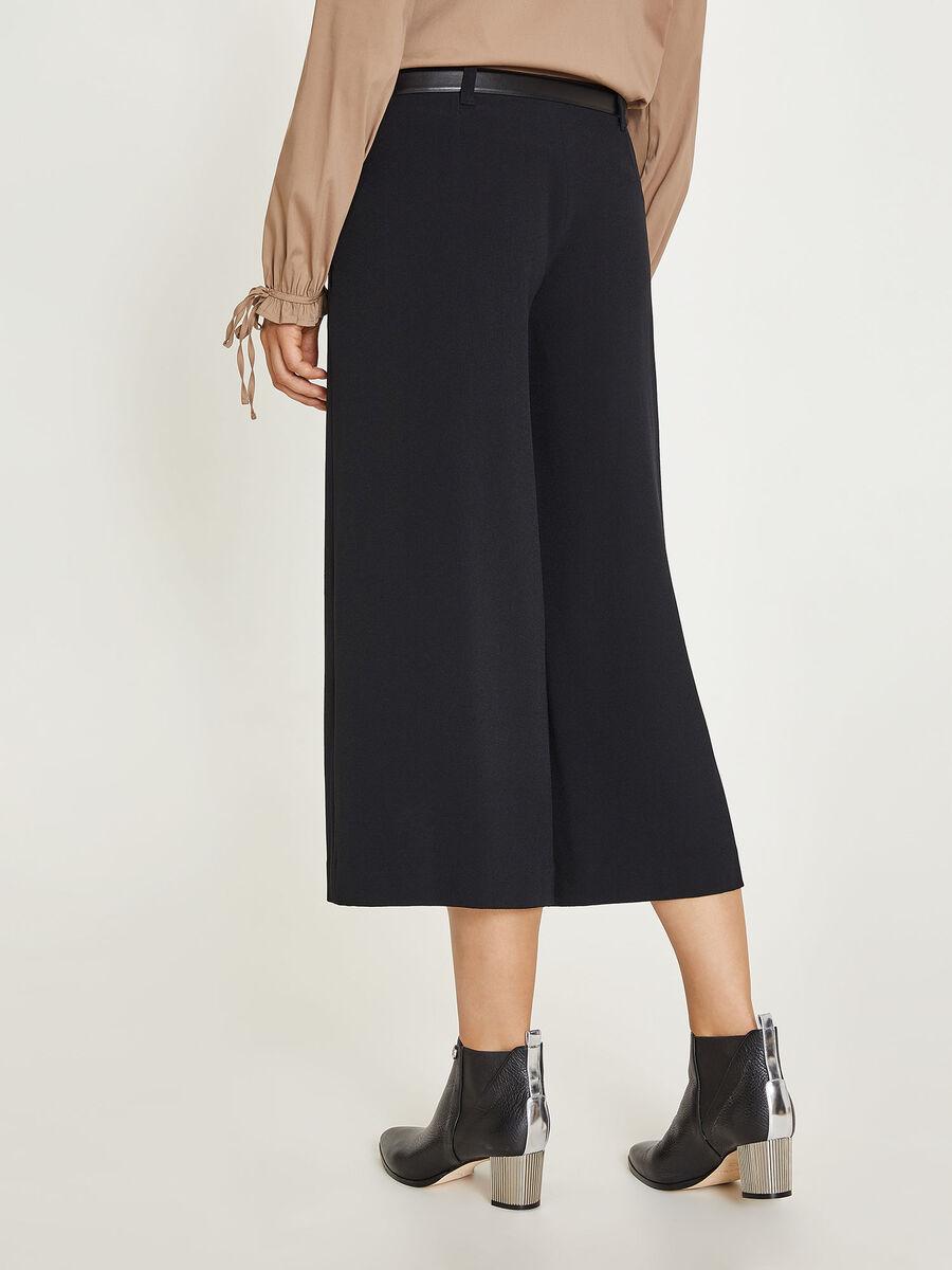 Skirt pants with belt