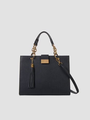 Medium Amsterdam top handle bag in smooth faux leather