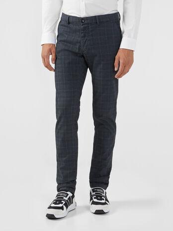 Pantalone seventies in gabardina tartan