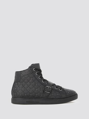 High Top Sneaker Matelasse mit Nieten