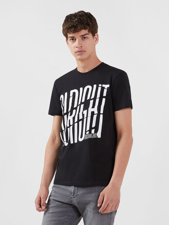 Regular Fit T Shirt aus Jersey mit Lettering Print