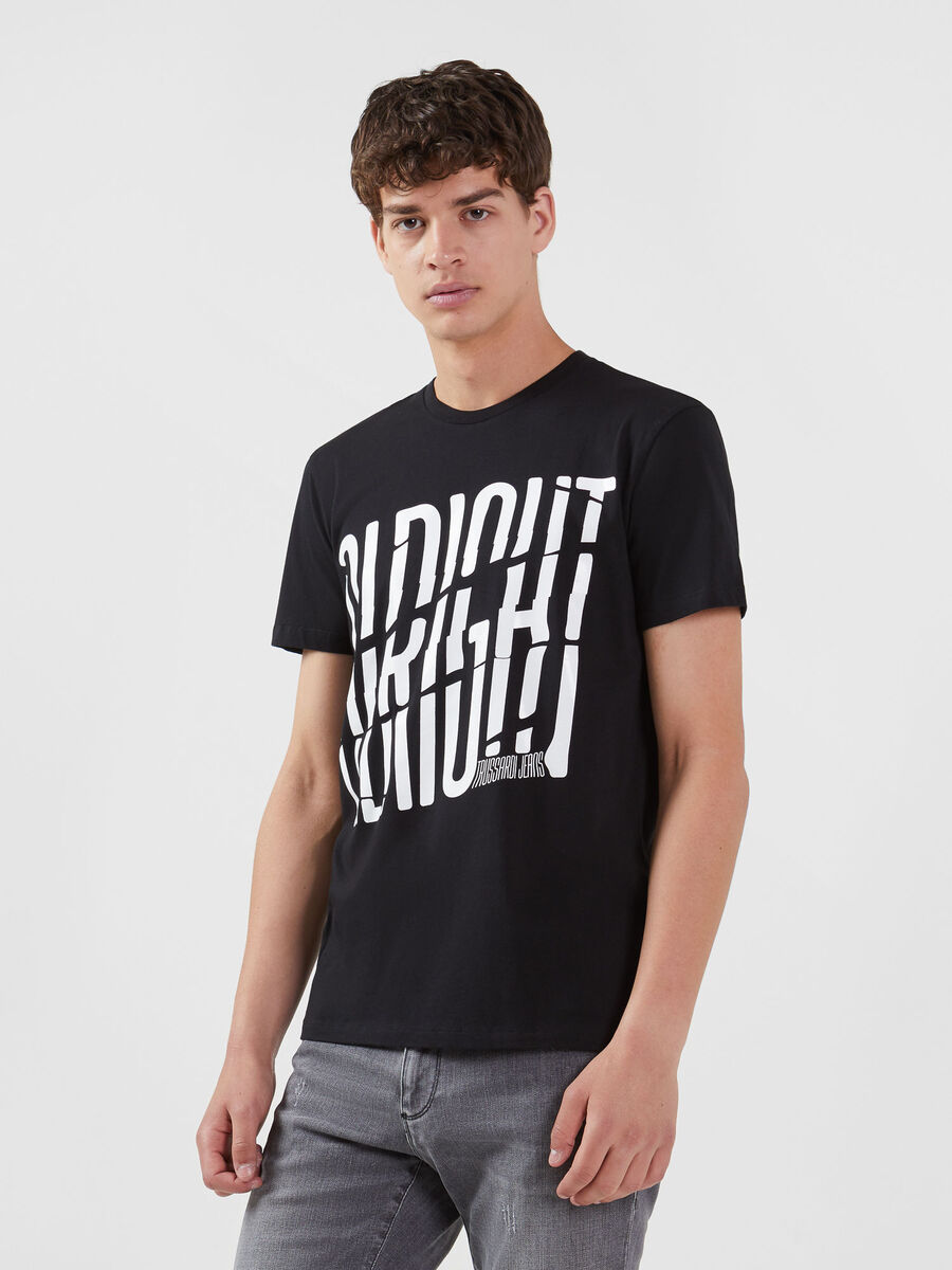 Regular fit jersey T-shirt with lettering print