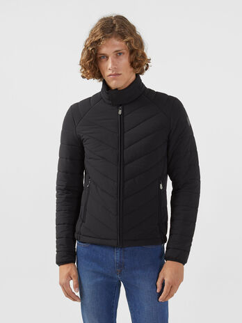 Slim fit down jacket in stretch matte nylon