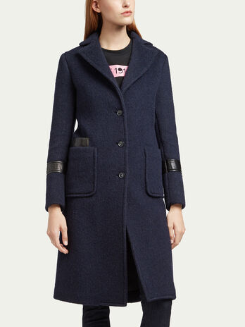Wool and mohair coat
