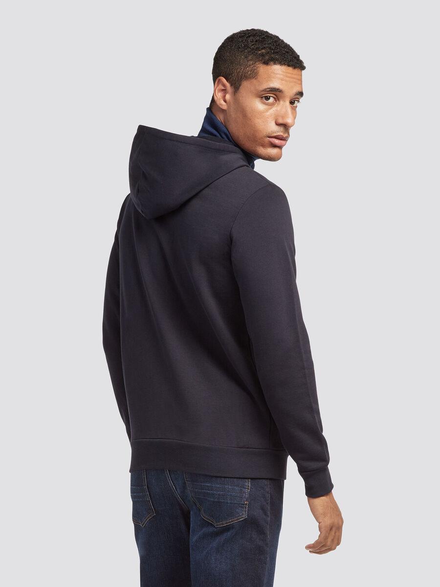 Zip up hoody with heraldic logo