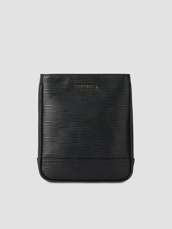 Small Cortina crossbody bag in faux saffiano leather