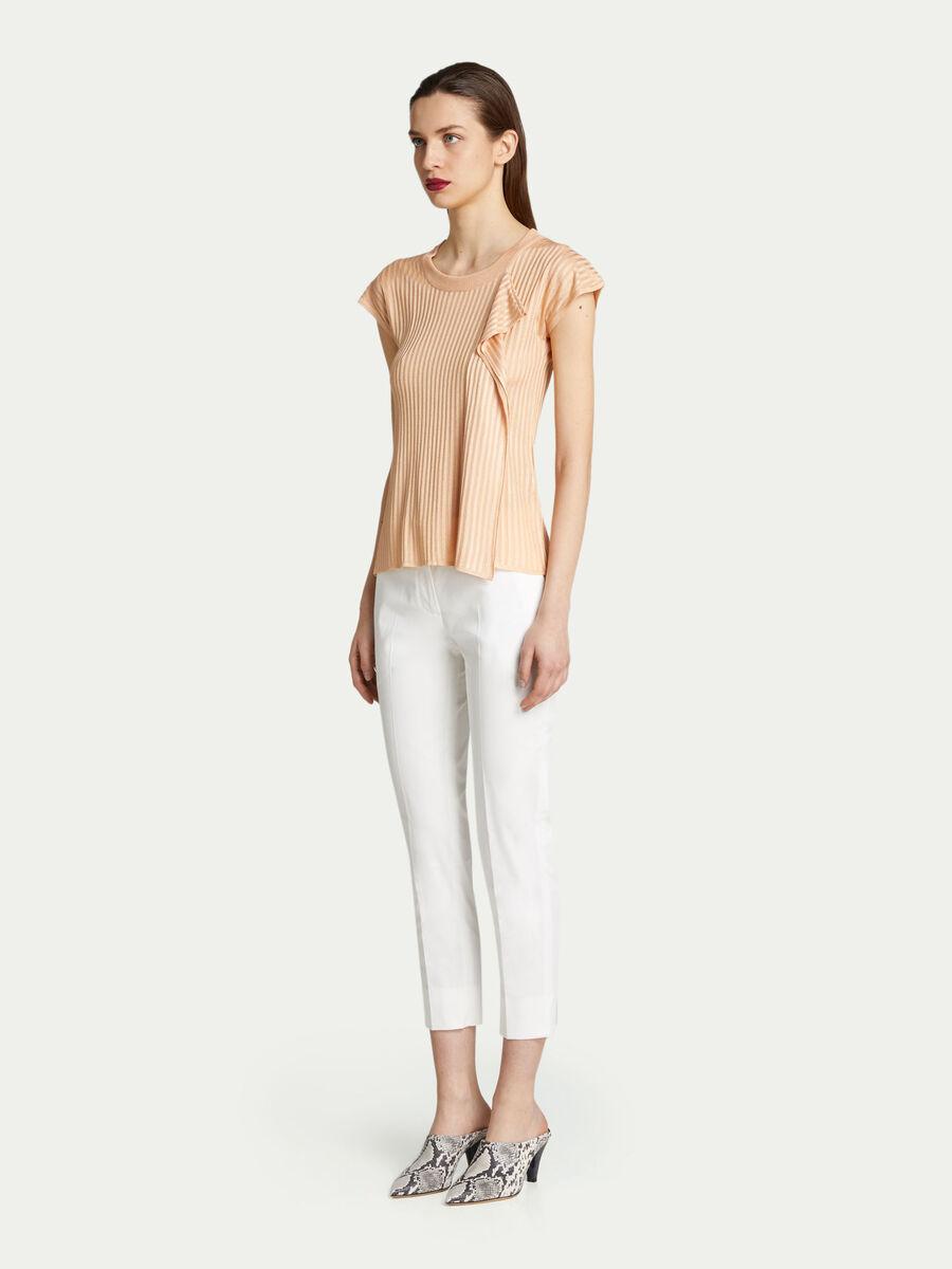 Regular fit short sleeved top