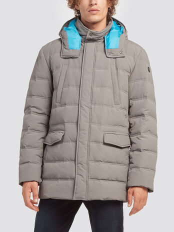 Parka over fit in nylon increspato