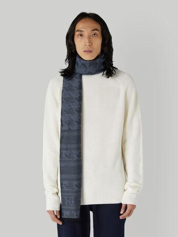Wool-blend jacquard pashmina