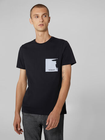 Regular fit cotton jersey T-shirt