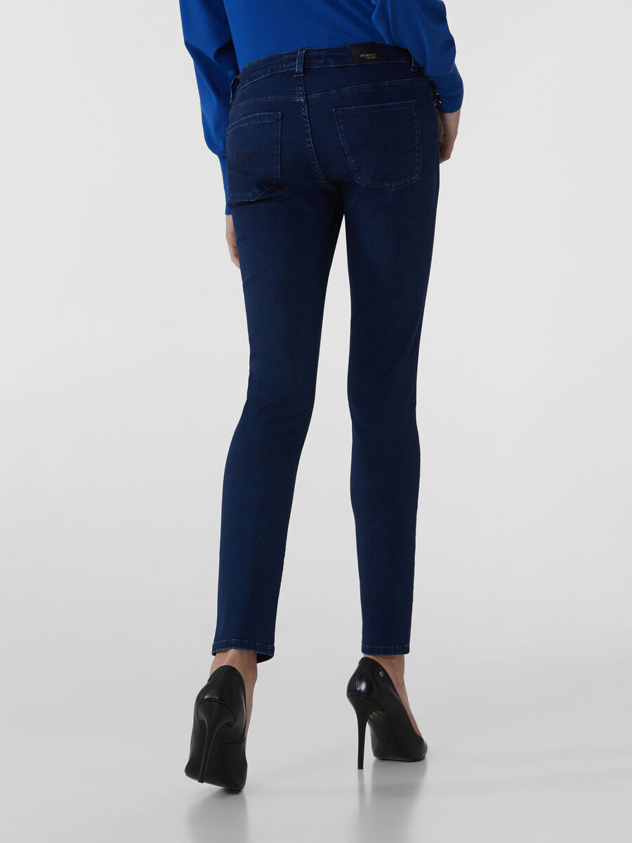 Super-Skinny-Jeans 206 aus Satin Power-Denim