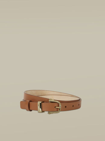 Thin Argo belt in smooth leather
