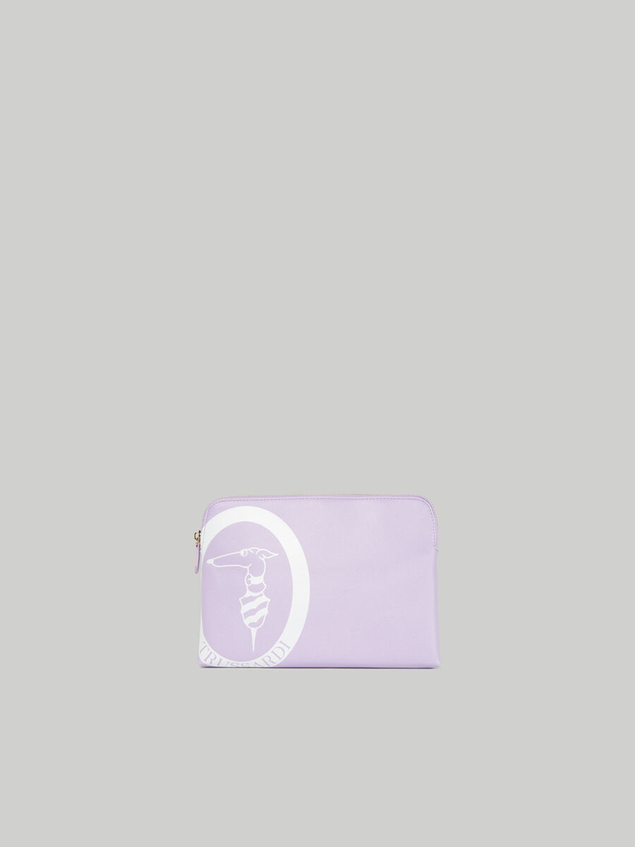 Kosmetiktasche Logo Pop Medium aus Saffian-Kunstleder