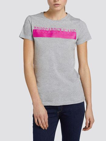T Shirt in normaler Passform aus Baumwolljersey