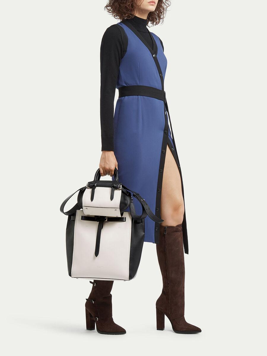 Medium tote style Gita bag with colour blocking