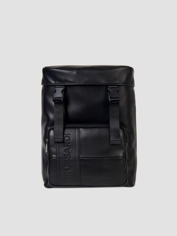 Medium Courmayeur backpack in smooth faux leather
