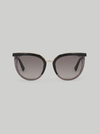 Round sunglasses in acetate and metal