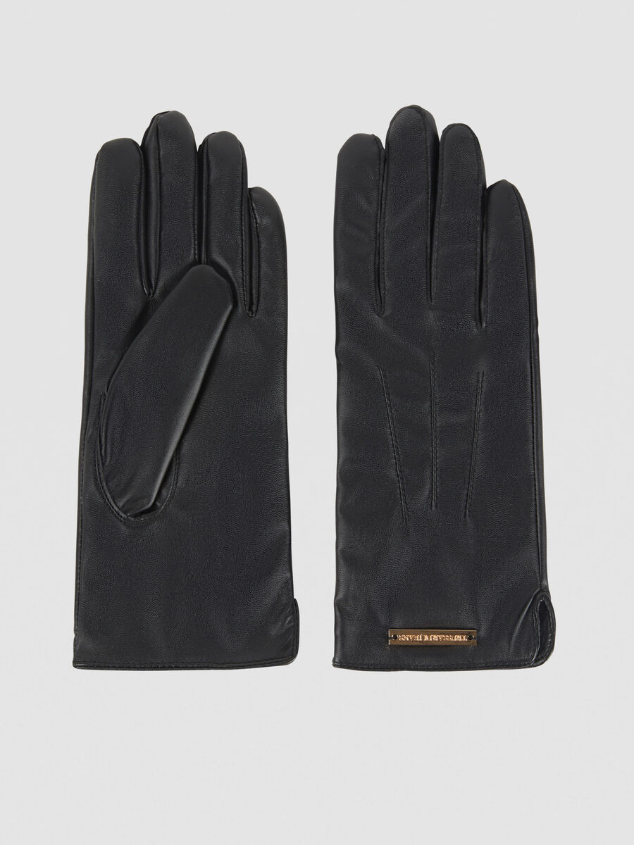 Faux leather T-Wow gloves