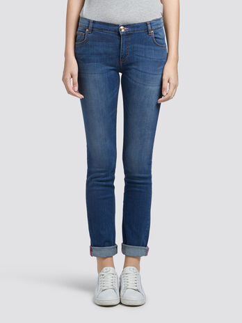 Classic fit washed jeans