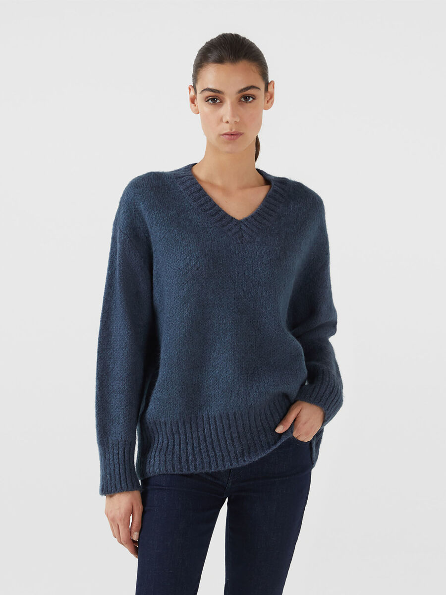Pullover over fit in misto mohair