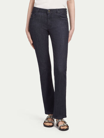 Jean stretch rinse strie