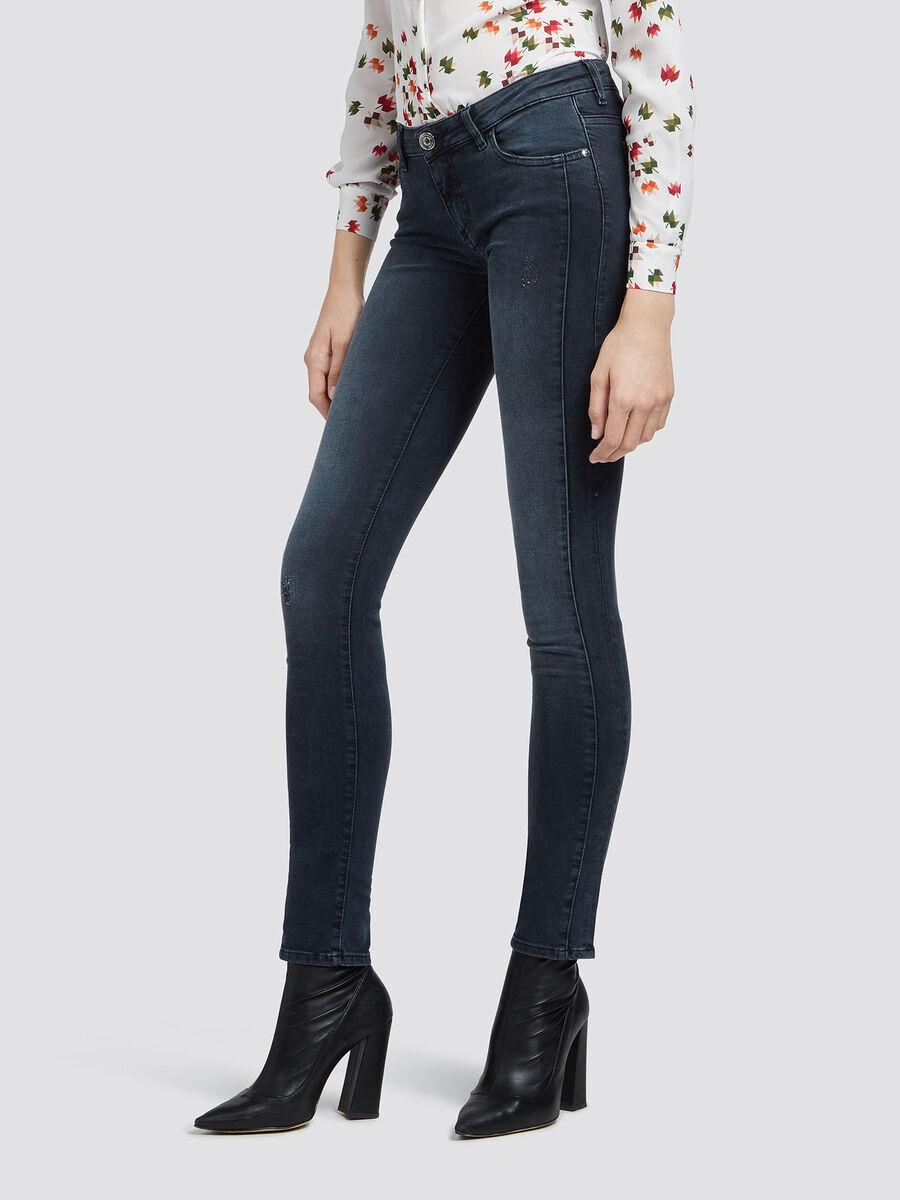 Super skinny vintage wash jeans