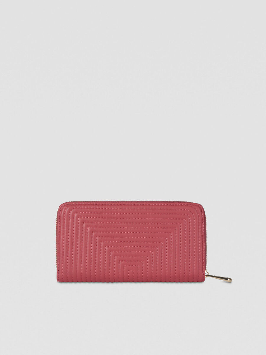 Large Frida continental purse in quilted faux leather