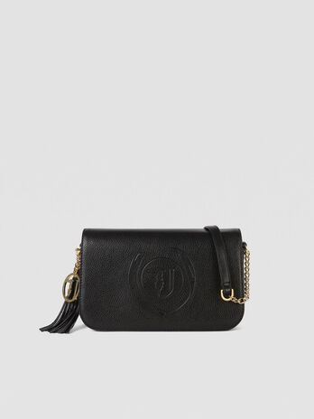 Cross-body Faith small in similpelle con logo