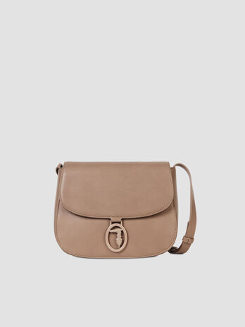 Borsa cross-body medium in similpelle monocolore