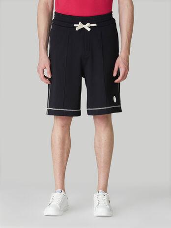 Baggy cotton fleece shorts