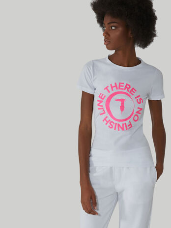 T-shirt slim fit in cotone stretch con logo