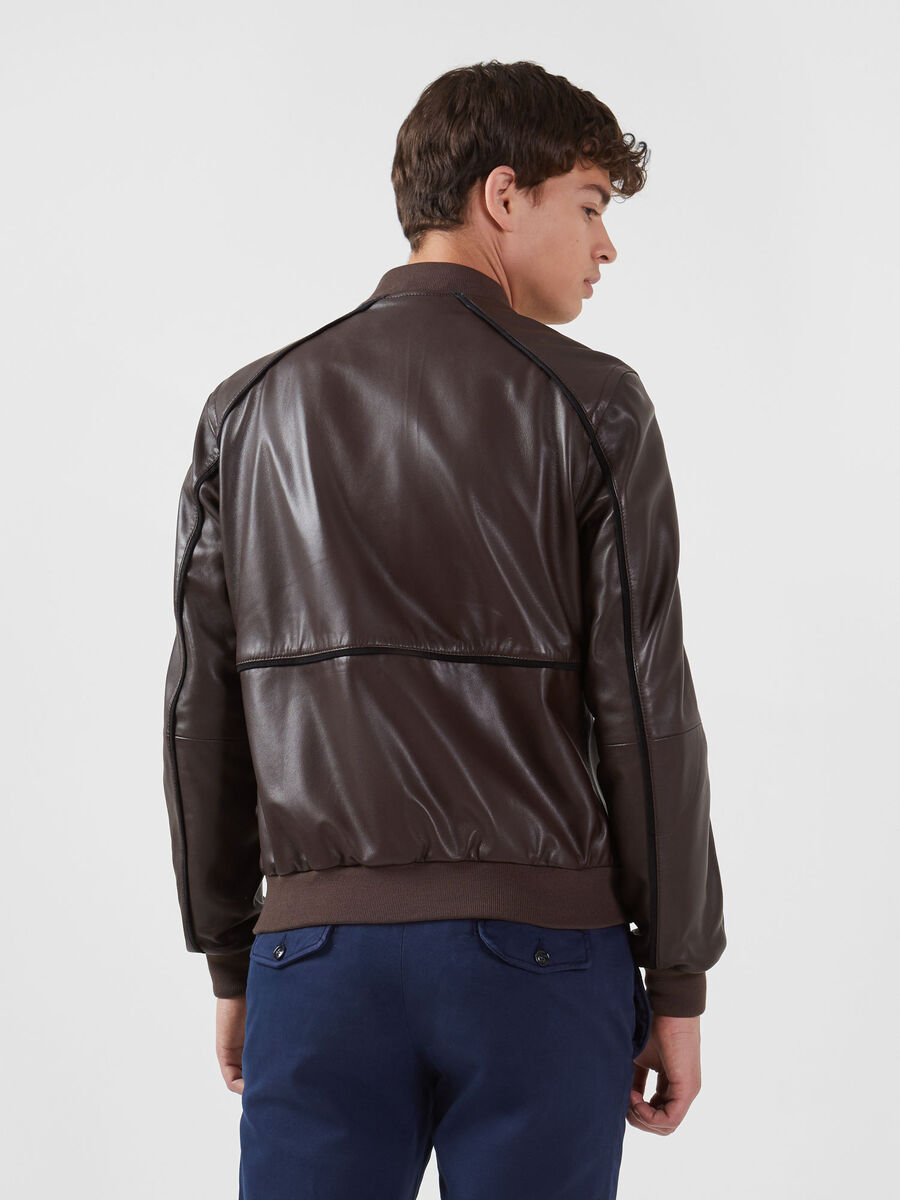 Bomber in pelle soft regular fit