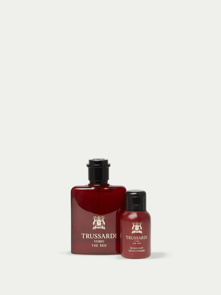 Trussardi Uomo The Red Perfume and Beard Soap Set