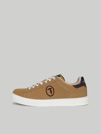 Suede Danus sneakers with monogram embroidery