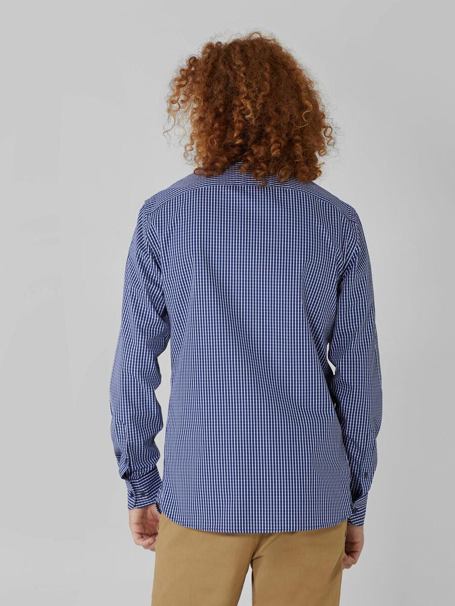 Chemise coupe classique en coton a motif