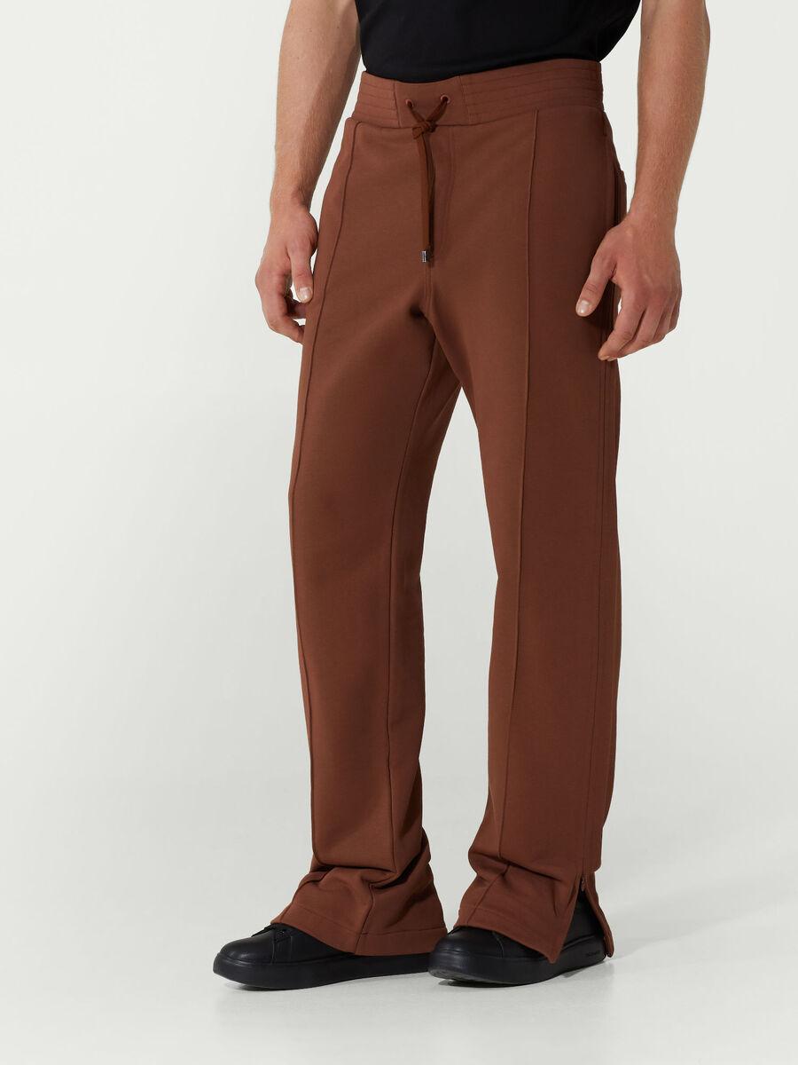 Fleece jogging bottoms with drawstring