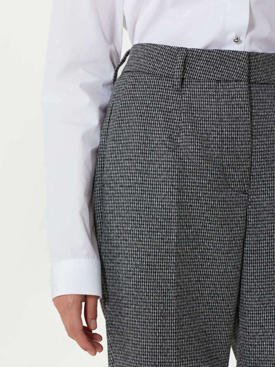 Micro houndstooth trousers