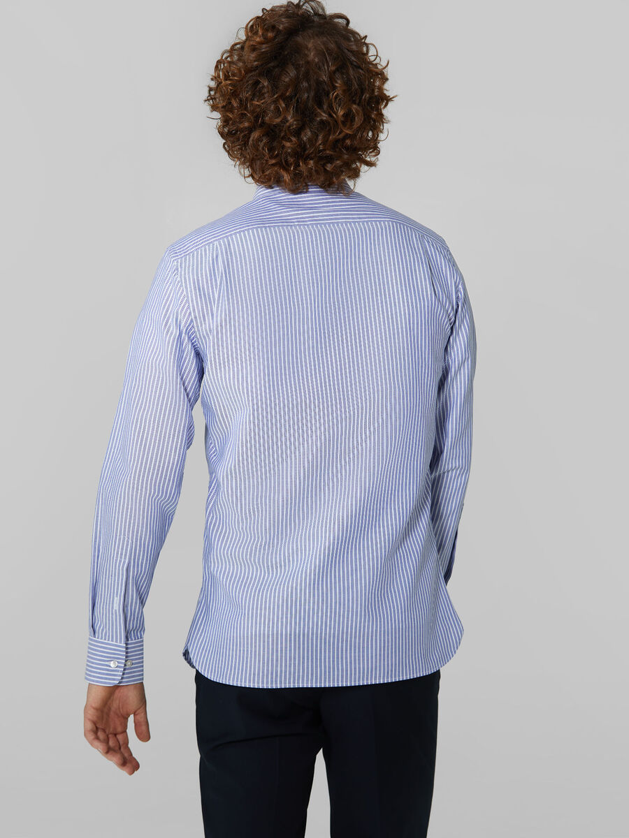 Regular fit striped cotton shirt