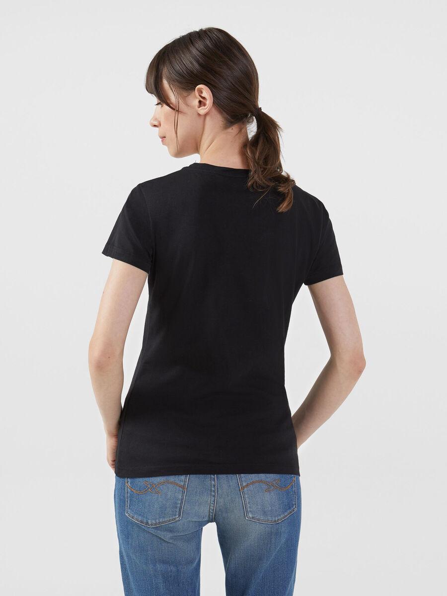 T-shirt en jersey coupe slim a logo multicolore