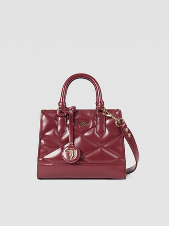 Small T-Easy City tote bag in faux leather with logo