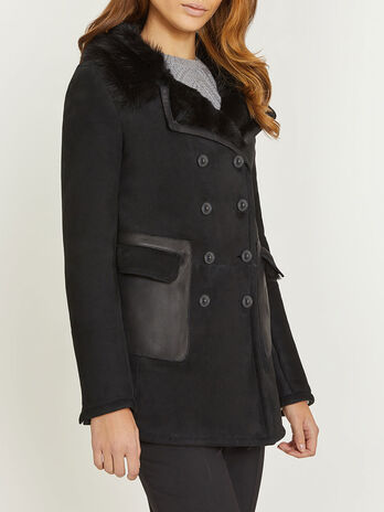 Peacoat in shearling