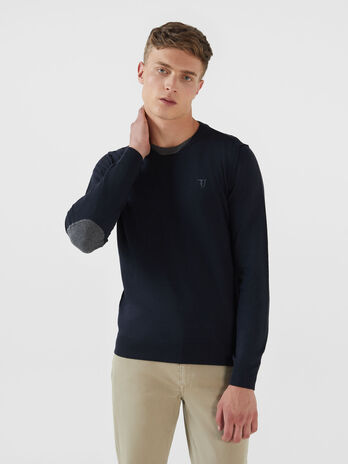 Pullover regular fit in misto cashmere