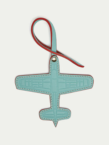 Velvet leather airplane charm